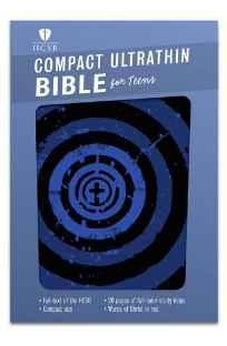 HCSB Compact Ultrathin Bible for Teens, Blue Vortex LeatherTouch 9781433617874