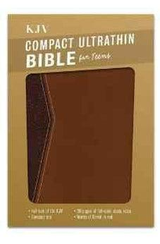 KJV Compact Ultrathin Bible for Teens, Walnut LeatherTouch 9781433617898