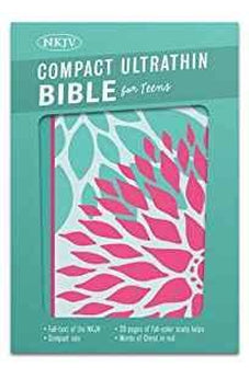 NKJV Compact Ultrathin Bible for Teens, Green Blossoms LeatherTouch 9781433617959