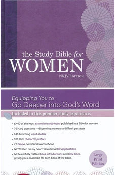 The Study Bible for Women: NKJV Large Print Edition, Hardcover 9781433619311