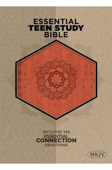 The NKJV Essential Teen Study Bible, Orange Cork LeatherTouch 9781433619663