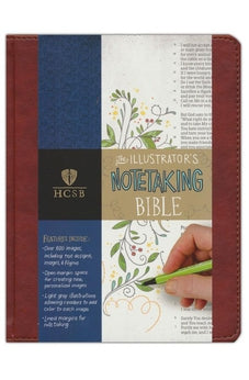 HCSB Illustrator's Notetaking Bible, British Tan, LeatherTouch 9781433620850