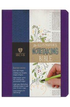 Image of HCSB Illustrator's Notetaking Bible, Purple Linen 9781433620867