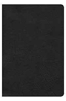 HCSB Large Print Personal Size Bible, Black LeatherTouch, Indexed 9781433620904