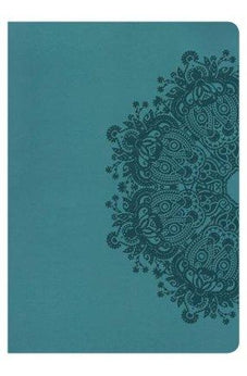 HCSB Super Giant Print Reference Bible, Teal LeatherTouch 9781433620997