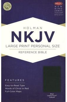 NKJV Large Print Personal Size Reference Bible, Black LeatherTouch, Indexed 9781433636011