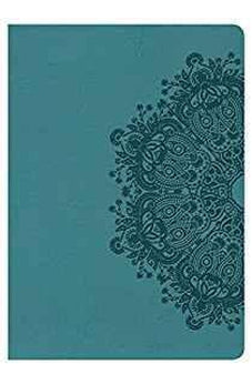 KJV Large Print Compact Reference Bible, Teal LeatherTouch 9781433636103