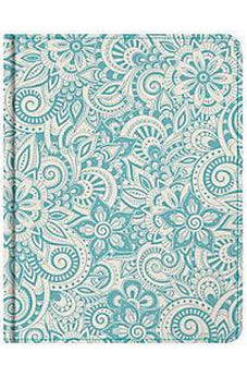 HCSB Notetaking Bible, Blue Floral Fabric 9781433643002