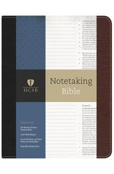 HCSB Notetaking Bible, Black/Brown Bonded Leather 9781433643033