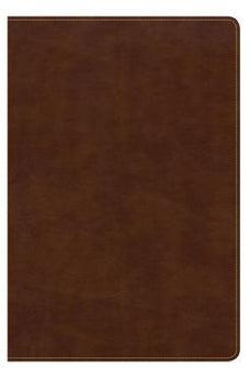CSB Large Print Ultrathin Reference Bible, British Tan LeatherTouch, Black Letter Edition 9781433644139