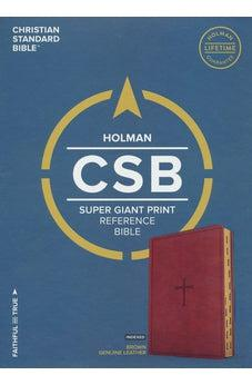 CSB Super Giant Print Reference Bible, Brown LeatherTouch, Indexed 9781433644184