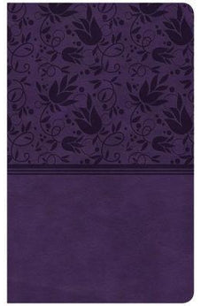 CSB Ultrathin Reference Bible, Purple LeatherTouch 9781433644191