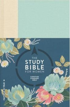 The CSB Study Bible For Women, Light Turquoise/Sand Hardcover 9781433644207