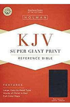 KJV Super Giant Print Reference Bible, Black Genuine Leather Indexed 9781433645075