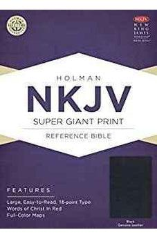 NKJV Super Giant Print Reference Bible, Black Genuine Leather 9781433645129