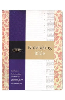 NKJV Notetaking Bible, Red Floral 9781433645662
