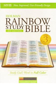 NIV Rainbow Study Bible, Cocoa/Terra Cotta/Ochre LeatherTouch, Indexed 9781433646126
