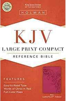 KJV Large Print Compact Reference Bible, Pink LeatherTouch, Indexed 9781433646232