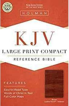 KJV Large Print Compact Reference Bible, Brown Cross LeatherTouch, Indexed 9781433646249