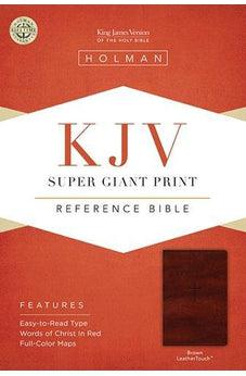 KJV Super Giant Print Reference Bible Brown Leathertouch 9781433647307