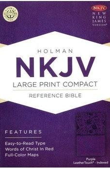 NKJV Large Print Compact Reference Bible Purple Leathertouch 9781433647345