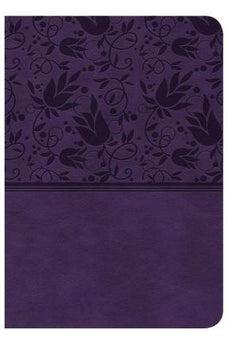 CSB Large Print Compact Reference Bible, Purple LeatherTouch 9781433647376