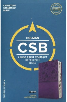 CSB Large Print Compact Reference Bible, Purple LeatherTouch, Indexed 9781433647383