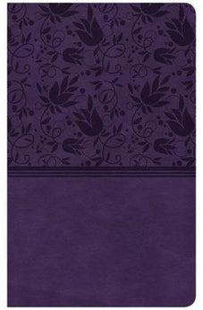 CSB Ultrathin Reference Bible, Purple LeatherTouch, Indexed 9781433647505