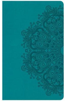 CSB Ultrathin Reference Bible, Teal LeatherTouch, Indexed 9781433647543