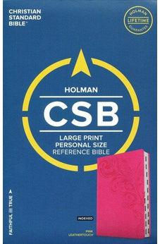 CSB Large Print Personal Size Reference Bible, Pink LeatherTouch, Indexed 9781433647680