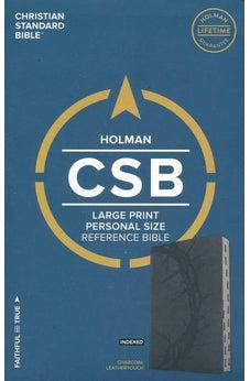 CSB Large Print Personal Size Reference Bible, Charcoal LeatherTouch, Indexed 9781433647727