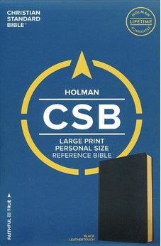 CSB Large Print Personal Size Reference Bible, Black LeatherTouch 9781433647734