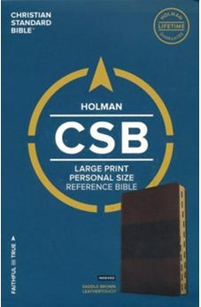 CSB Large Print Personal Size Reference Bible, Saddle Brown LeatherTouch, Indexed 9781433647765