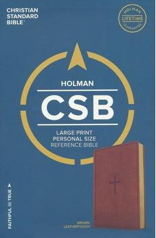 CSB Large Print Personal Size Reference Bible, Brown LeatherTouch 9781433647796