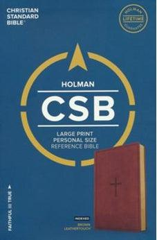 CSB Large Print Personal Size Reference Bible, Brown LeatherTouch, Indexed 9781433647802