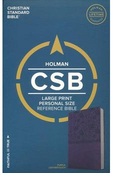 CSB Large Print Personal Size Reference Bible, Purple LeatherTouch 9781433647819