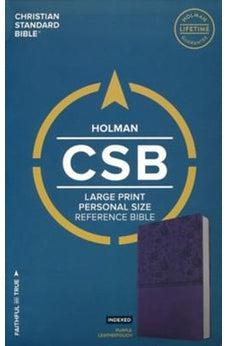 CSB Large Print Personal Size Reference Bible, Purple LeatherTouch, Indexed 9781433647826