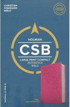 CSB Large Print Compact Reference Bible, Pink LeatherTouch 9781433647840