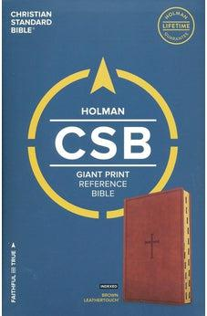 CSB Giant Print Reference Bible, Brown LeatherTouch, Indexed 9781433647888