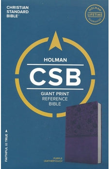 CSB Giant Print Reference Bible, Purple LeatherTouch 9781433647895