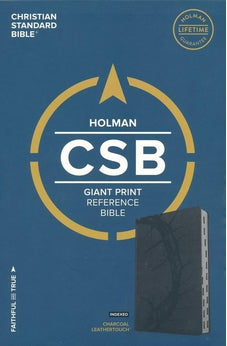 CSB Giant Print Reference Bible, Charcoal LeatherTouch, Indexed 9781433647949