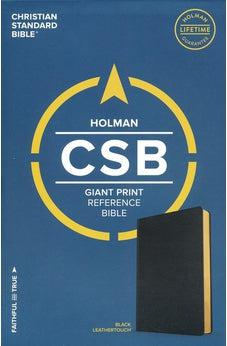 CSB Giant Print Reference Bible, Black LeatherTouch 9781433647956