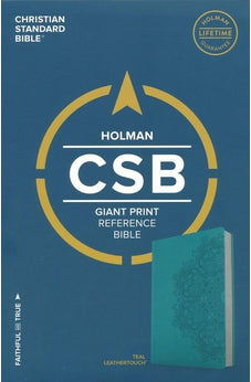 CSB Giant Print Reference Bible, Teal LeatherTouch 9781433648120