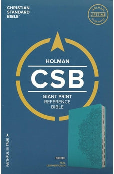 CSB Giant Print Reference Bible, Teal LeatherTouch, Indexed 9781433648137