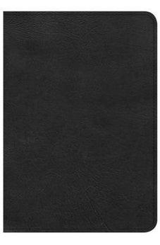 CSB Large Print Compact Reference Bible, Black LeatherTouch 9781433648144