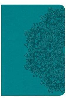 CSB Large Print Compact Reference Bible, Teal LeatherTouch 9781433648175