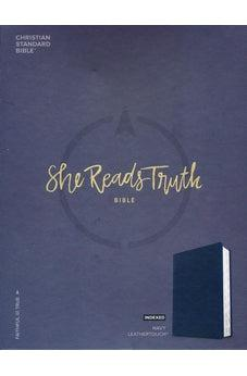 CSB She Reads Truth Bible, Navy LeatherTouch, Indexed 9781433648243