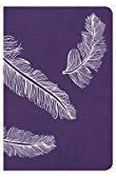 CSB Compact Ultrathin Bible for Teens, Plum Feathers LeatherTouch 9781433649066