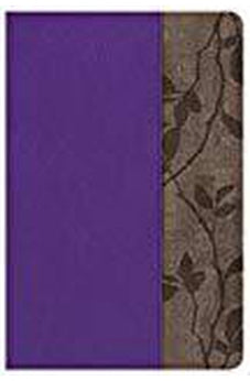 KJV Study Bible Personal Size, Purple with Brown Cork LeatherTouch, Indexed 9781433649592