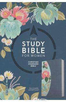 CSB Study Bible For Women, Teal Flowers LeatherTouch 9781433651298